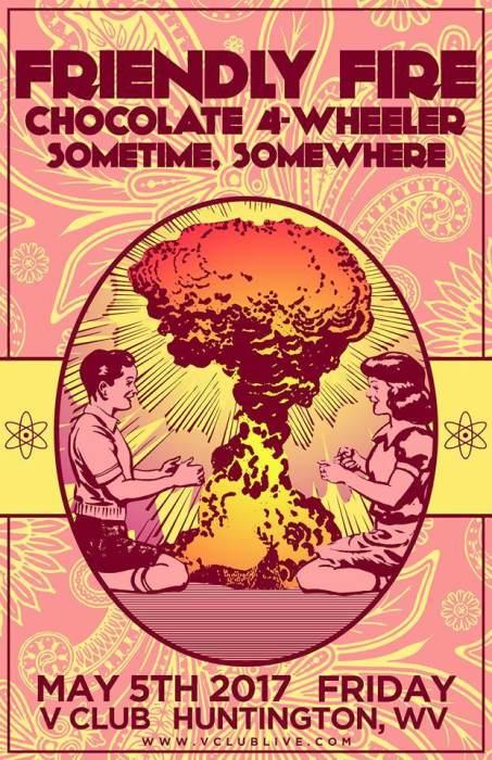 Friendly Fire / Chocolate 4-Wheeler / Sometime, Somewhere