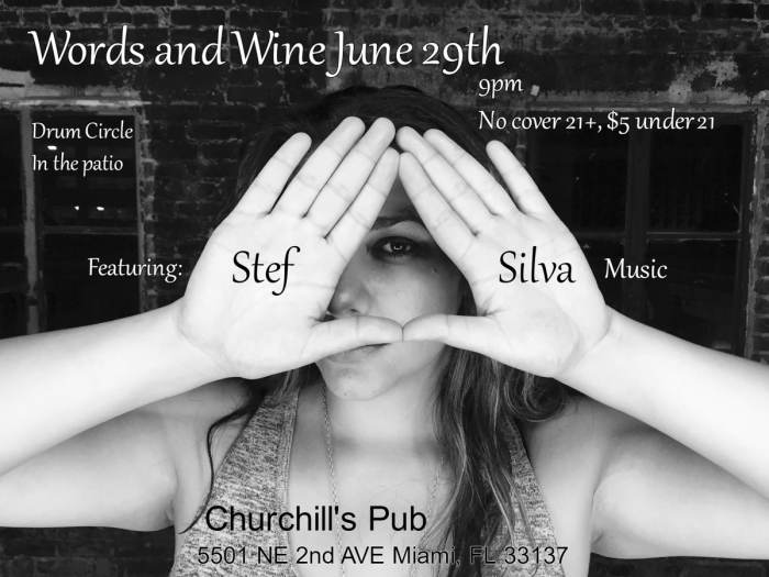 Words and Wine featuring Stef Silva Music