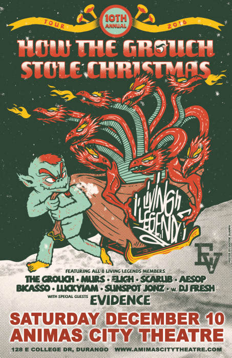 10th Annual How The Grouch Stole Christmas Tour ft. LIVING LEGENDS (ALL ORIGINAL MEMBERS)