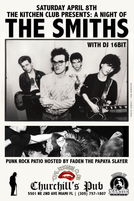 The Kitchen Club presents a night of the Smiths with 16bit. Punk Rock Patio hosted by Faden the Papaya Slayer