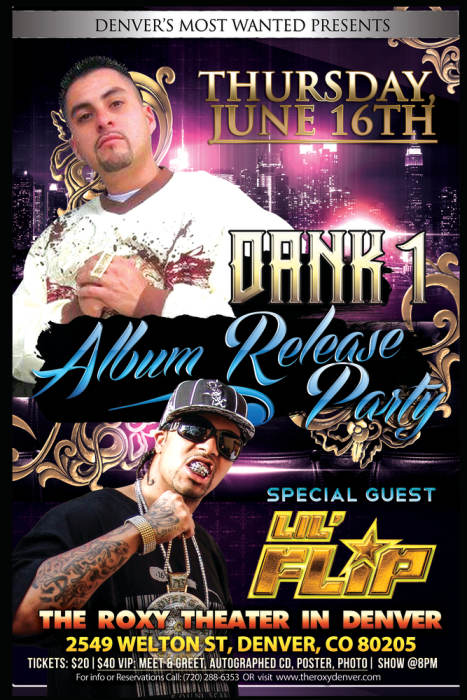 Dank 1's CD Release Party Ft. Lil Flip