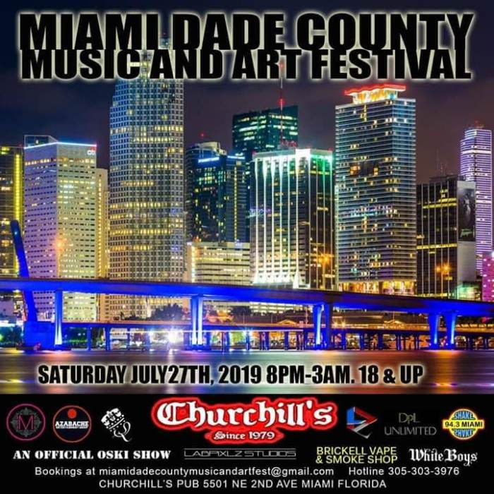Miami Dade County Music and Arts Festival hosted by Oski