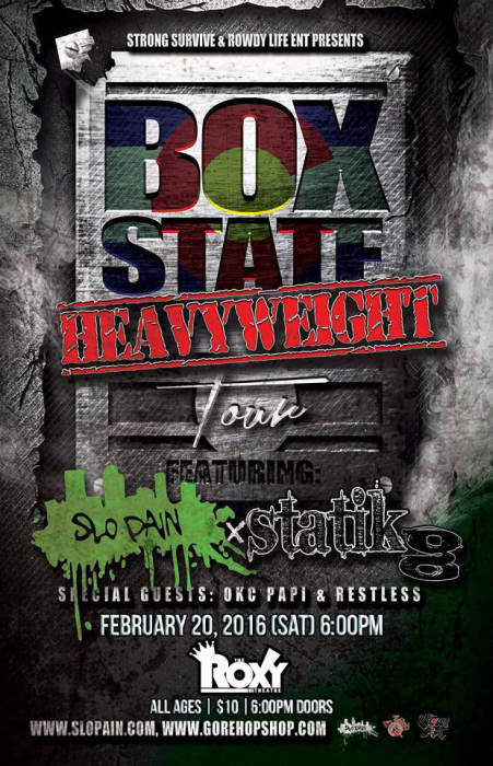 Box State Heavy Weight Tour