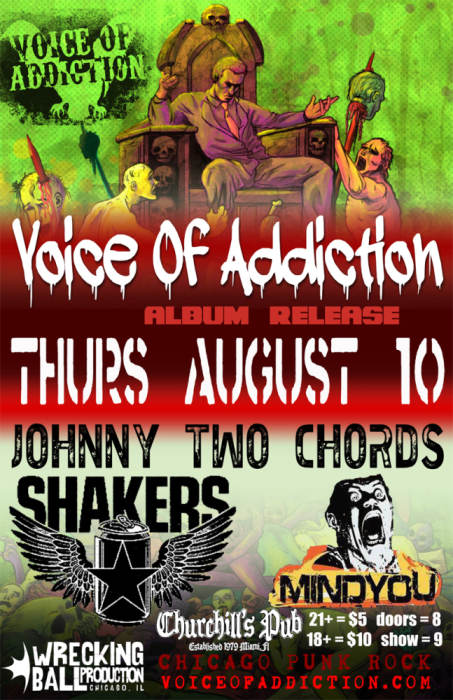 Voice of Addiction, Johnny Two Chords, Shakers, & MindYou