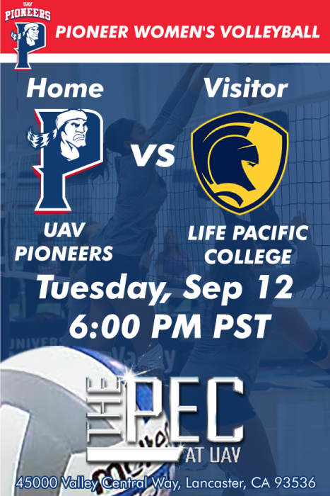 UNIVERSITY OF ANTELOPE VALLEY VS LIFE PACIFIC COLLEGE