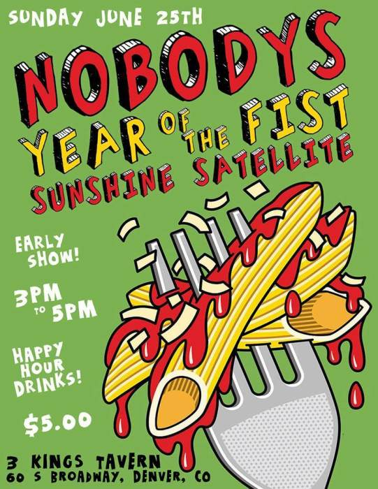 Sunday Funday Matinee with: NOBODYS, Year of the Fist (Oakland) & Sunshine Satellite (featuring Stoli from Stoli & The Beers!)