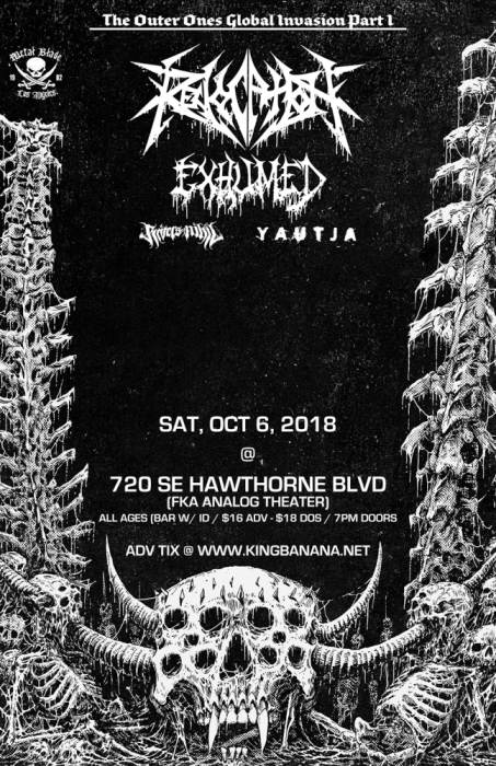 REVOCATION with EXHUMED,  *SHOW MOVED TO DANTES