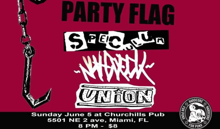 Nutcheck, Union, Party Flag, Speculum 8p/$5