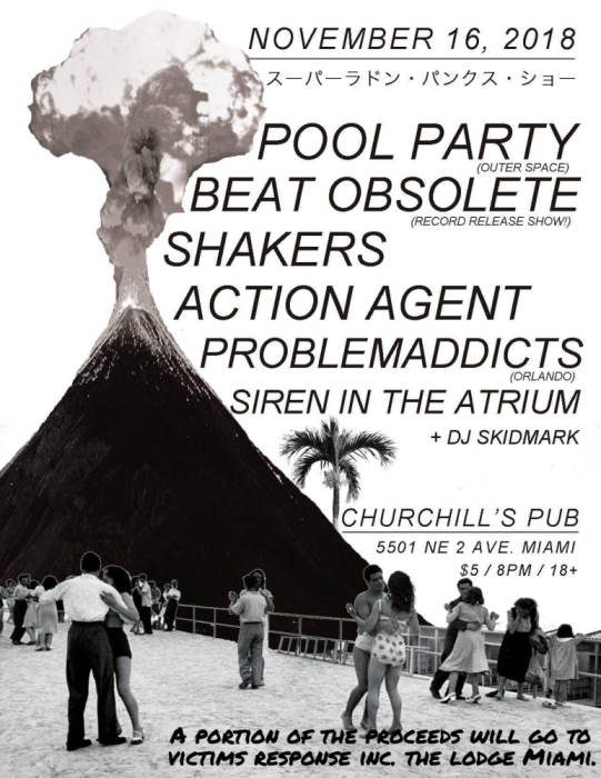 Pool Party, Beat Obsolete, Shakers, Action Agent, Problemaddicts, Siren in the Atrium, DJ Skidmark