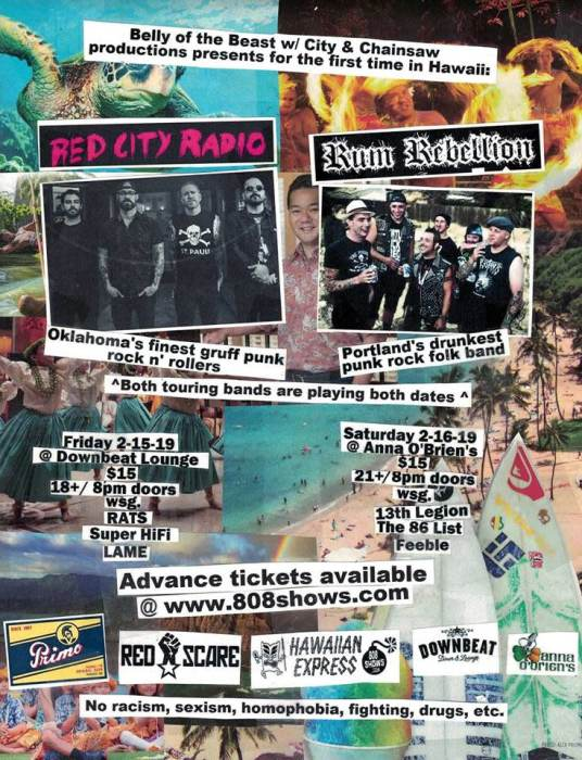 Red City Radio (OK) and Rum Rebellion (OR)