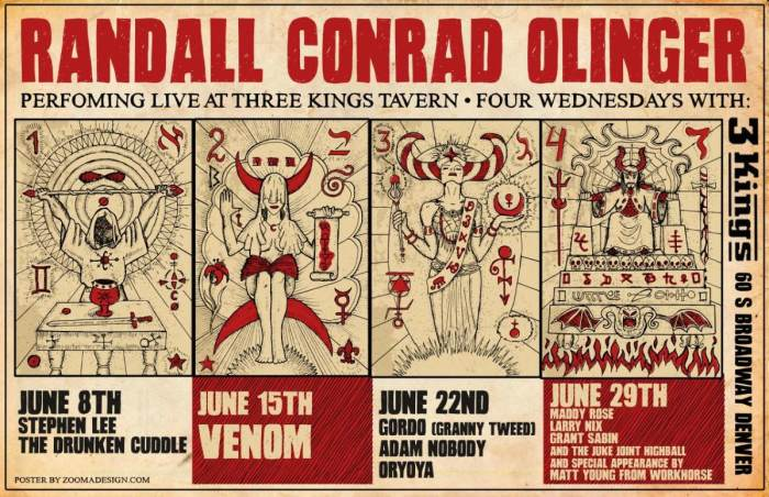 RANDALL CONRAD OLINGER RESIDENCY WITH MADDY ROSE, LARRY NIX, GRANT SABIN AND THE JUKE JOINT HIGHBALL, AND MATT YOUNG(OF WORKHORSE)