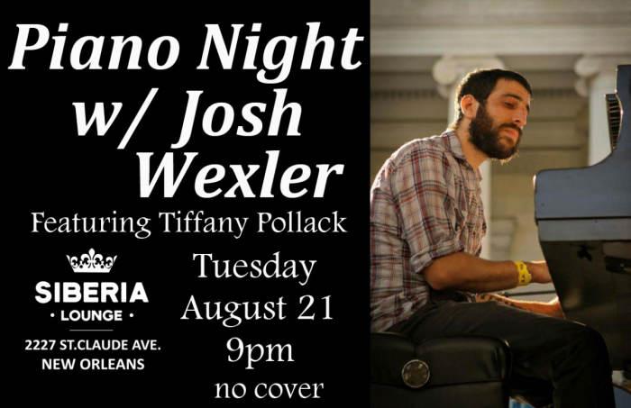 Piano Night: Josh Wexler w/ Tiffany Pollack