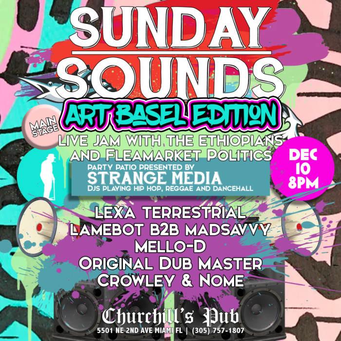 Sunday Sounds with The Ethiopians, Mello-D, Original Dub Master, Ras Pablo, Selecta Kylus, and special guests: Flea Market Politics!