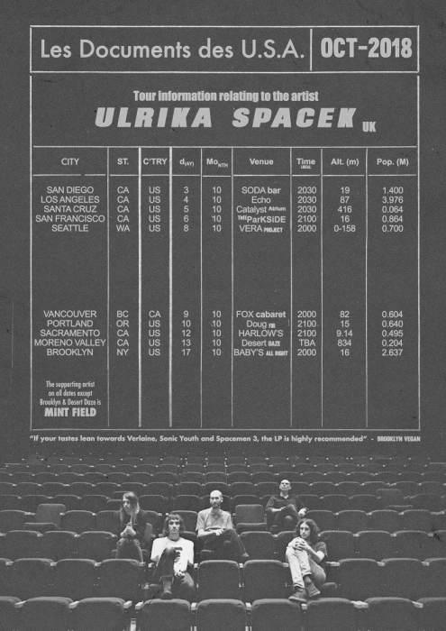 Ulrika Spacek (UK), Mint Field (MEX), The Acharis