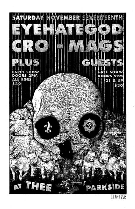 Eyehategod, Cro-Mags, Mutilated Tongue (All Ages Matinee Show)