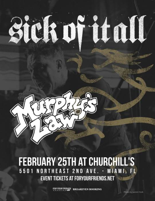 Sick Of It All & Murphy