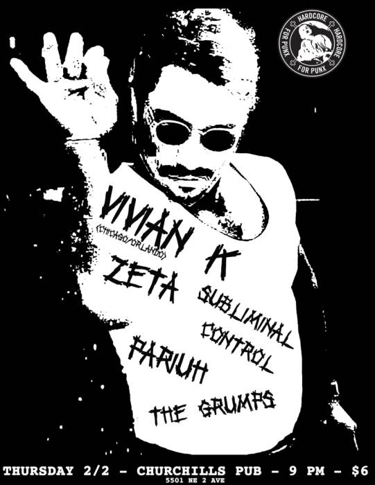 Hardcore for Punx presents: Vivian K., Zeta, Pariuh, Subliminal Control