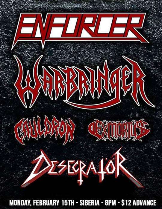 ENFORCER   WARBRINGER   Cauldron   Exmortus   Desecrator