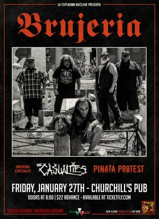 Brujeria at Churchills Pub