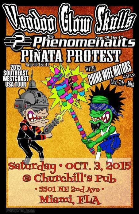 Voodoo Glow Skulls, The Phenomenauts, Pinata Protest, the Shakers @ Churchill