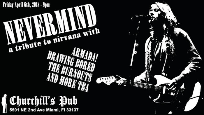 Nevermind: Nirvana tribute night with Armada!, The Burnouts, Drawing Bored, After The Fall, Frankie Midnight, Marq Iggy, Azur