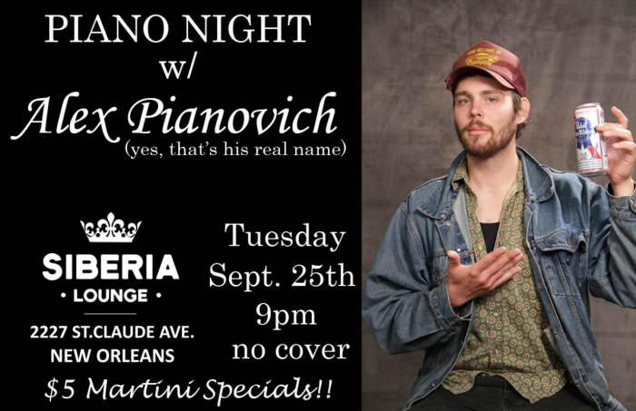 Piano Night: Alex Pianovich