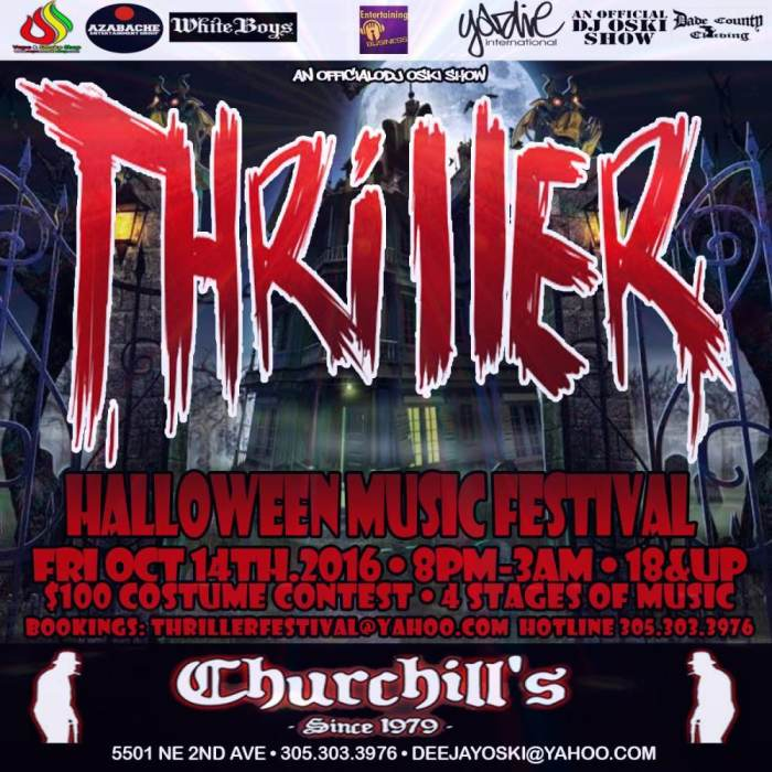 The 10th Annual Thriller Halloween Music Festival at Churchill