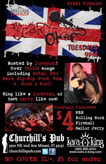 Radio Bemba: A Latin Punk/Rock Invasion! plus Scaryokee Rockstar Karaoke on the patio!