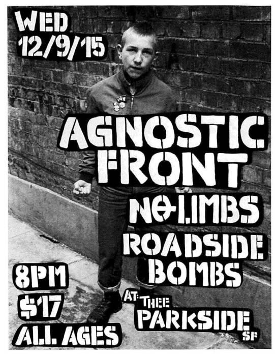 Agnostic Front, No Limbs, Roadside Bombs