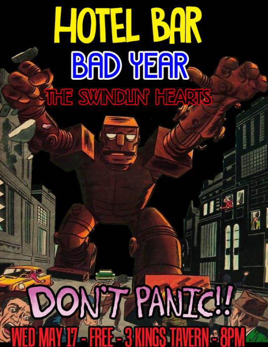 Hotel Bar, Bad Year, & The Swindlin