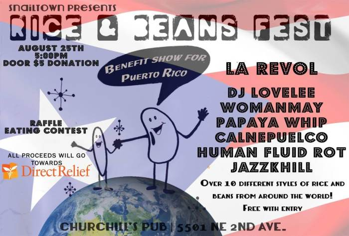 RICE AND BEANS FEST - A BENEFIT FOR PUERTO RICO