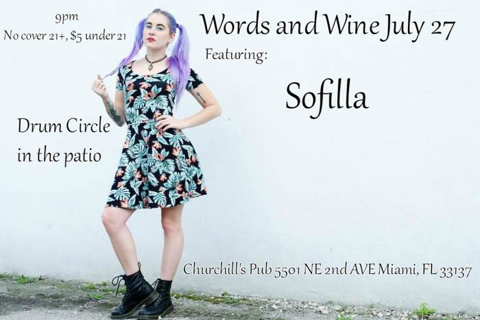 Words and Wine featuring Sofilla