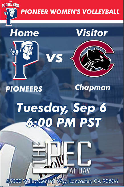 UNIVERSITY OF ANTELOPE VALLEY vs CHAPMAN UNIVERSITY