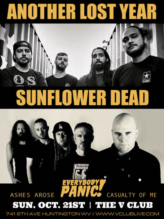 Another Lost Year / Sunflower Dead / Everybody Panic! / Ashes Arose / Casualty of Me