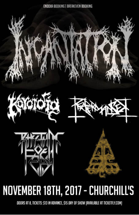 Incantation, Rhythm of Fear, Koroidia, Reapermanser, Gnosi