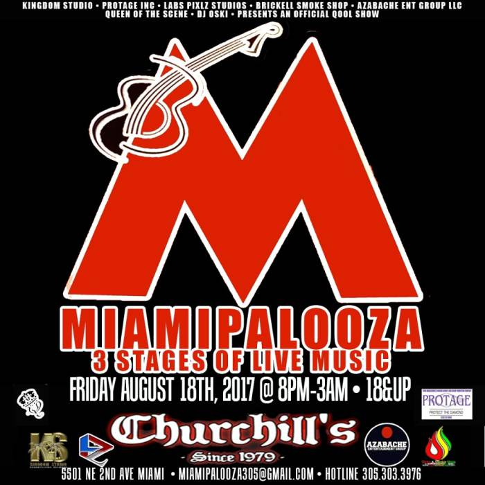 Miamipalooza - MekroniuM, Southern Tier, The Lived, Tone G, DJ Oski, Reede & Co., Tedium, The Virtues, 1000 Pounds Of Thrust, Barber Floyd, PinkFoot Goliath, Gods Among Men, DJ XXX, Coolpeeple, Heroes On Drugs, DJ Chacon & Chinese Takeout, Heroes On Drugs