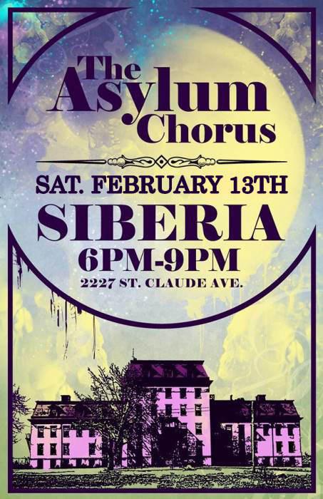 The Asylum Chorus - EARLY SHOW!!