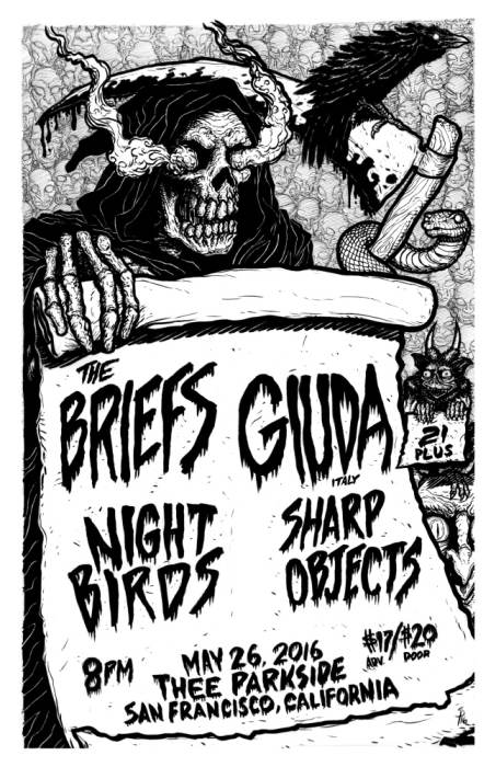 The Briefs, Giuda (Italy), Night Birds, Sharp Objects