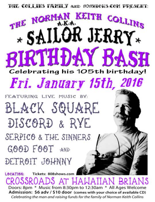 The NKC aka SAILOR JERRY BIRTHDAY BASH