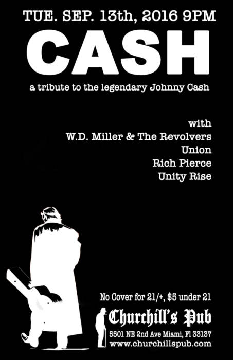 CASH - A Tribute to the legendary Johnny Cash with Rich Pierce, Union, Unity Rise, WD Miller & The Revolvers
