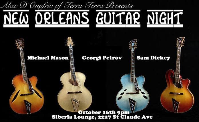 Guitar Night: Michael Mason, Sam Dickey, Georgi Petrov