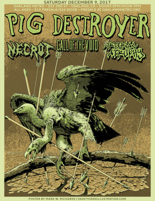 Pig Destroyer, Necrot, Call of the Void