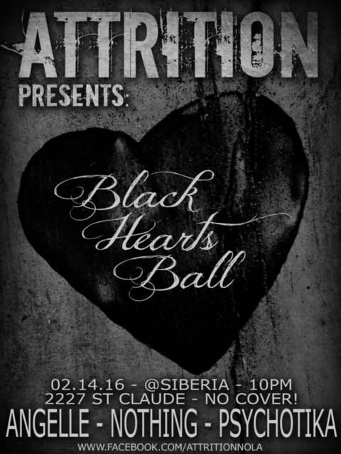 Attrition presents The Blackhearts Ball: Goth/Industrial Night