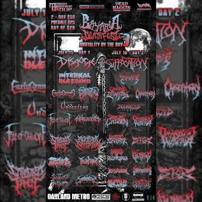BAY AREA DEATHFEST: two day pass