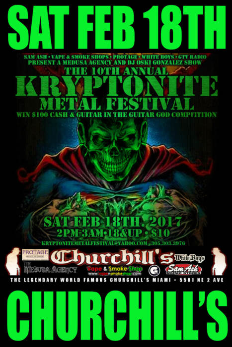 10th Annual Kryptonite Metal Festival
