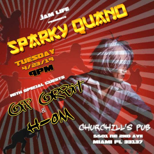 Dollhouse Presents... Sparky Quano, Off Orbit, H-OM, and 1/2 off Drinks for dolls