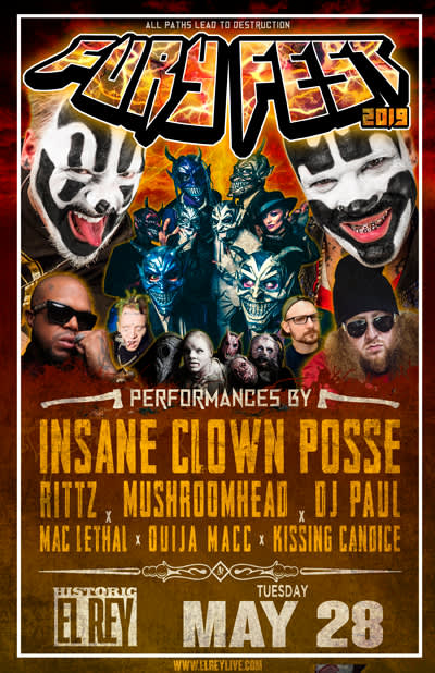 "INSANE CLOWN POSSE ""Fury Fest"" - with RITTZ * MushroomHead * Mac Lethal * Kissing Candice"