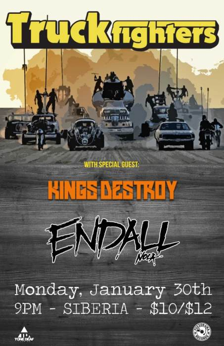TRUCKFIGHTERS (Swedish Stoner Rock) | Kings Destroy | Endall