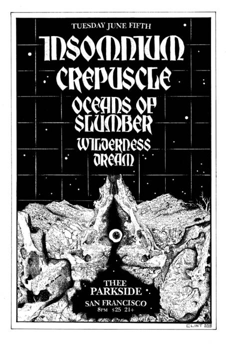 Insomnium, Crepuscle, Oceans of Slumber, Wilderness Dream