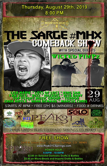 THE SARGE #MHX COMEBACK SHOW
